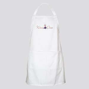 Wine Diva with Glass BBQ Apron
