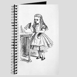 Drink Me Alice in Wonderland vintage art Journal