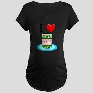 I Love Pickles Maternity T-Shirt