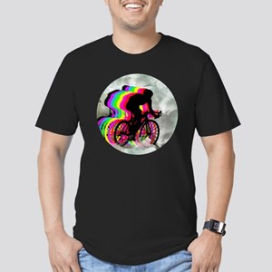 Cycling in the Clouds Men's Fitted T-Shirt (dark)