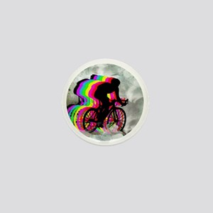 Cycling in the Clouds Mini Button