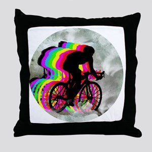 Cycling in the Clouds Throw Pillow