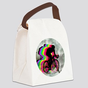 Cycling in the Clouds Canvas Lunch Bag