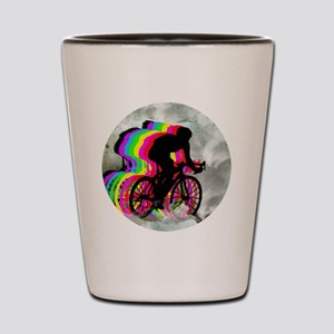 Cycling in the Clouds Shot Glass