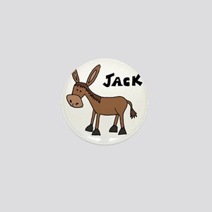 Funny Donkey Named Jack Mini Button