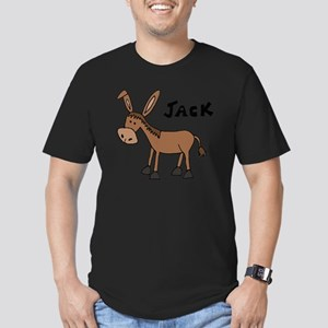 Funny Donkey Named Jac Men's Fitted T-Shirt (dark)