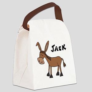 Funny Donkey Named Jack Canvas Lunch Bag