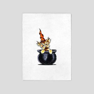 Yorkie Witch 5'x7'Area Rug