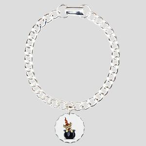 Yorkie Witch Charm Bracelet, One Charm