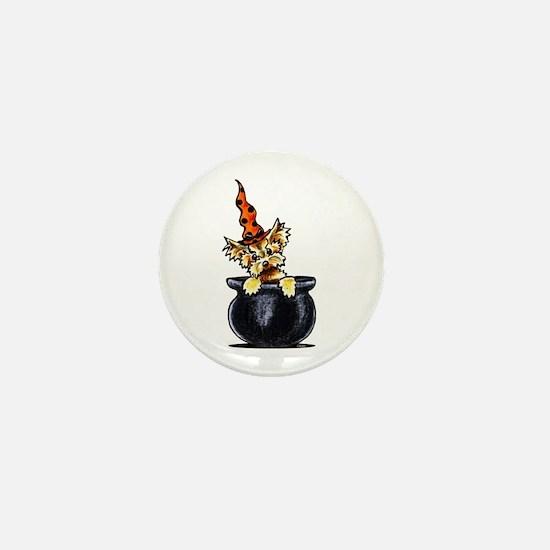 Yorkie Witch Mini Button
