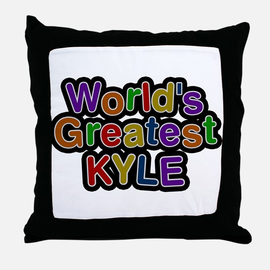 Worlds Greatest Kyle Throw Pillow