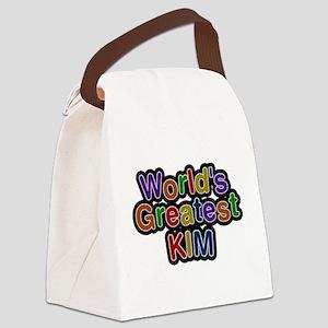Worlds Greatest Kim Canvas Lunch Bag