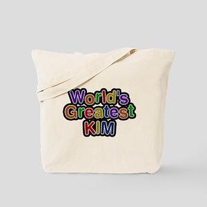 Worlds Greatest Kim Tote Bag