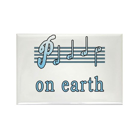 Musical Peace on Earth Rectangle Magnet (10 pack)