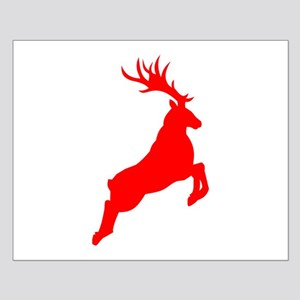 Red Buck Silhouette Poster Design