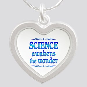 Science Awakens Silver Heart Necklace