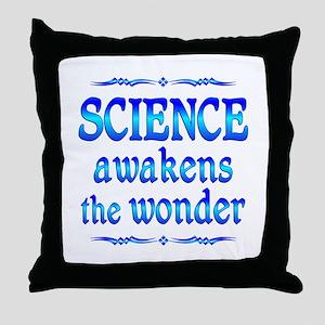 Science Awakens Throw Pillow