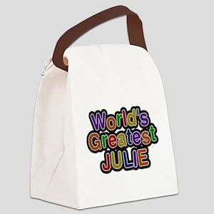 Worlds Greatest Julie Canvas Lunch Bag