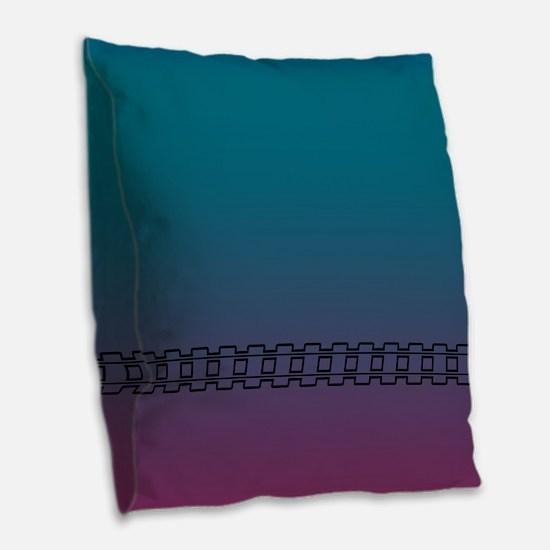 Twilight Night Burlap Throw Pillow