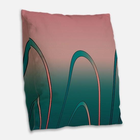 Twilight Surf Burlap Throw Pillow