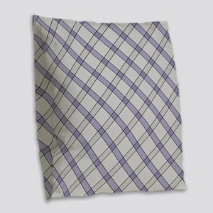 Violet Peppermint Candy Burlap Throw Pillow