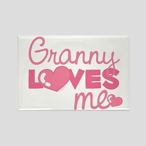 Granny Love Me (pink) Rectangle Magnet