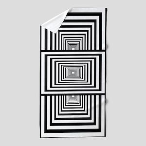 Optical Illusion Rectangles Beach Towel