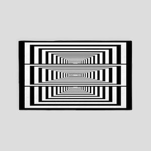 Optical Illusion Rectangles 3'x5' Area Rug