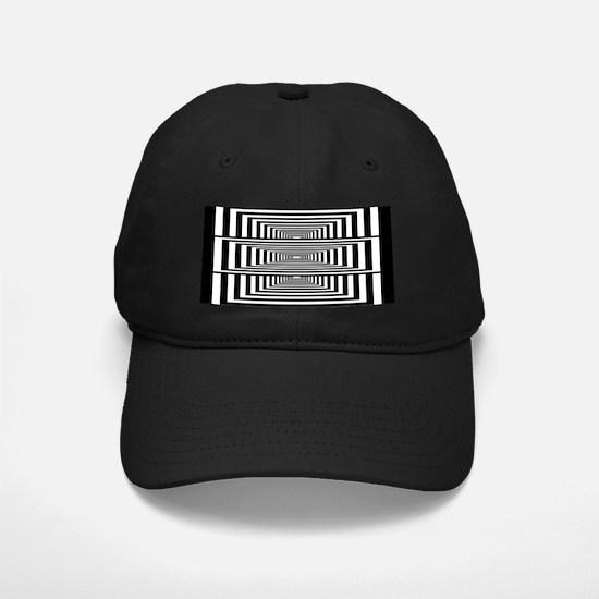 Optical Illusion Rectangles Baseball Hat