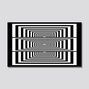 Optical Illusion Rectangles Car Magnet 20 x 12