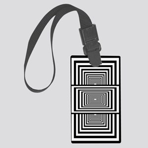 Optical Illusion Rectangles Large Luggage Tag