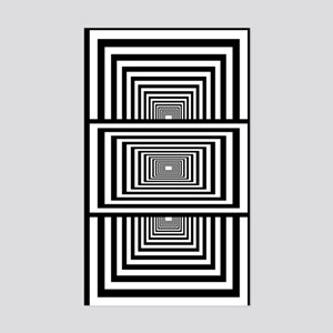 Optical Illusion Rectangles Sticker (Rectangle)