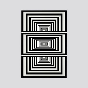 Optical Illusion Rectangles Rectangle Magnet