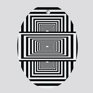 Optical Illusion Rectangles Ornament (Oval)