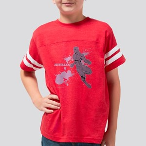 Retro Splash -Jetstream_fLAT Youth Football Shirt