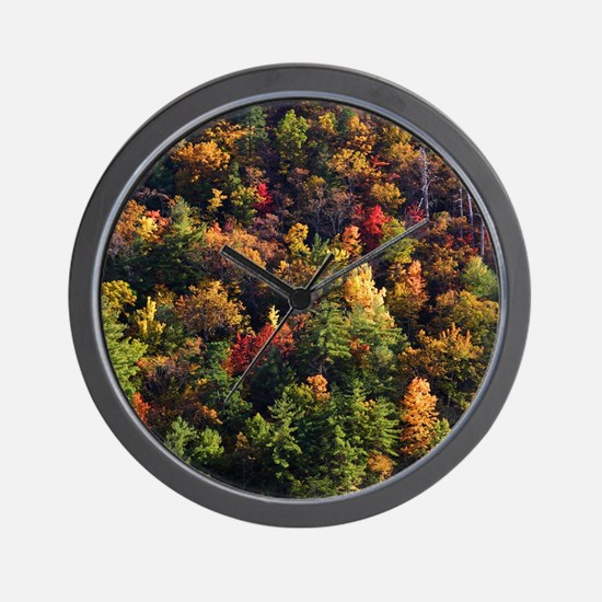 A Slice of Fall Wall Clock