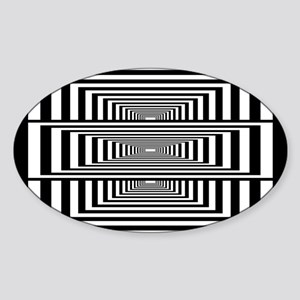 Optical Illusion Rectangles Sticker (Oval)