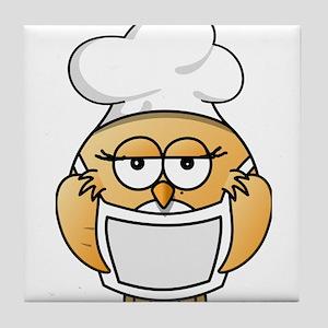 Chef Penguin Tile Coaster