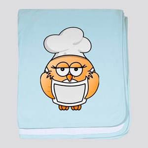 Chef Penguin baby blanket