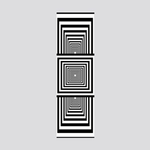 Optical Illusion Rectangles 36x11 Wall Decal