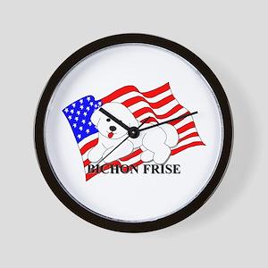 Bichon Frise USA Wall Clock