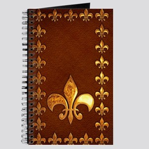 Old Leather with gold Fleur-de-Lys Journal