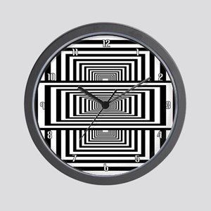 Optical Illusion Rectangles Wall Clock