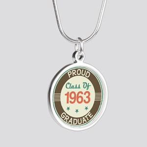 Vintage Class of 1963 Silver Round Necklace