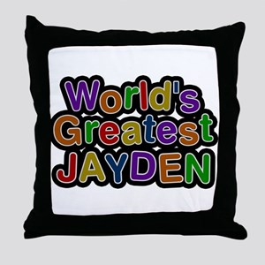 Worlds Greatest Jayden Throw Pillow