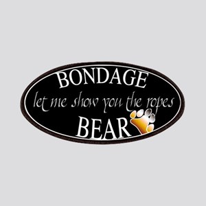 Bondage Bear Oval Patches