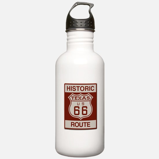 Texas Historic Route 66 Water Bottle