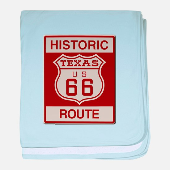 Texas Historic Route 66 baby blanket