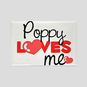 Poppy Love Me (red) Rectangle Magnet