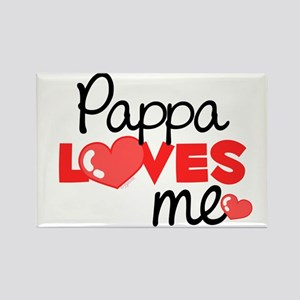 Pappa Love Me (red) Rectangle Magnet